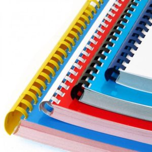 coloured document comb binding